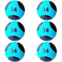 Kit 6 Medicine Ball Liveup PRO B 4 Kg Bola de Peso Treino Funcional LP8112-04 -