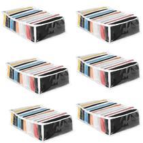 Kit 6 Organizador de Roupa Gavetas Colmeia Transparente Grande 31x34x10 cm 2438 123Organizei - 123 Organizei