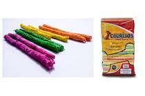 Kit 6 Palito Osso Petisco Pet Cães N8 Couritos 1kg Colorido -