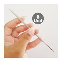 Kit 6 Palitos Duplo Inox Manicure Pedicure Isis Cutelaria -