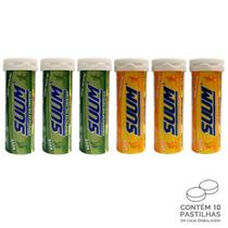 Kit 6 Pastilha de Bebida Hidroeletrolítica Suum Limão e Tangerina -