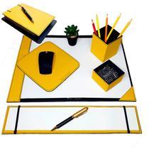 Kit 6 pç escritório a3+can&clip+pad+risque tc+argola amarelo - Apparatos