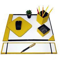 Kit 6 pç escritório a3+can&clip+pad+risque tc+refil amarelo - Apparatos
