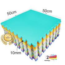 Kit 6 pçs Tapete Eva Tatame Premium Ginastica Academia 50x50x1cm cobre 1,5m² - Yupitoys Max