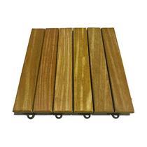 Kit 6 Peças (0,5m²) Deck Modular 6 Réguas 30x30 - Scrock Pisos