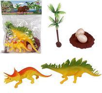 Kit 6 peças Dinossauro Incríveis + Acessórios - Wellmix