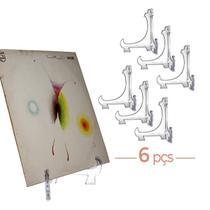 Kit 6 Peças Suporte P/ Pratos Acrílico Transparente 10cm -