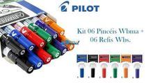 Kit 6 Pinceis 6 Refis Marcador De Quadro Branco Pilot -