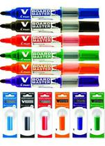 Kit 6 pincel e 6 refil marcador quadro branco pilot -