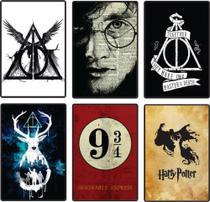 Kit 6 Placas Decor Harry Potter Relíquias Plataforma 9 3/4 - Alves&Alves