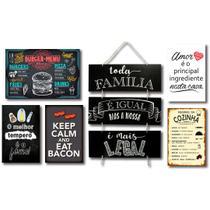 Kit 6 Placas Decorativas Frases Cozinha  Mdf - Art Print