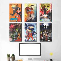 Kit 6 Placas Decorativas Naruto - Arte Quadro