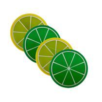 Kit 6 Porta Copos Formato De Fruta Suporte Descanso Siciliano E Taiti - Universal Vendas