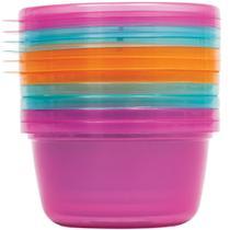 Kit 6 potes para papinha - rosa - 6758 - buba -