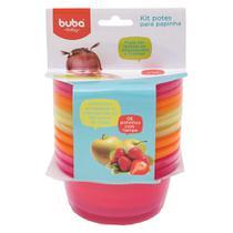 Kit  6 Potes para Papinha rosa Laranja e Verde - Buba - Buba toys