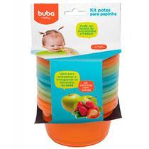Kit 6 Potinhos Para Papinha Bebê Azul - Buba - Buba toys