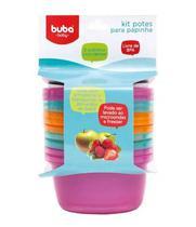 Kit 6 Potinhos Para Papinha Bebê Rosa - Buba - Buba toys