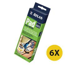 Kit 6 Refil Pad Pintura Cabo Plástico Stains, Vernizes Atlas -
