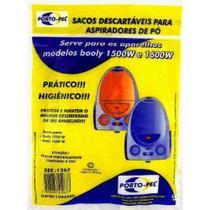 Kit 6 Saco Para Aspirador Modelo Booly 1500w e 1600w - Porto-Pel