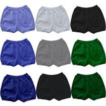 Kit 6 Shorts Bebe Tampa Fralda Sortidos Em Algodão tfbk1 - Wb Moda