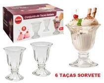 Kit 6 taças de sobremesa mesa posta gelado presente casamento - Dolce Home