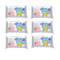 Kit 6 Toalha lenço Umedecida IsaBaby 100 unidades cada -