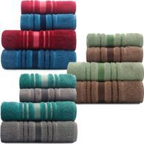 Kit 6 toalhas de Banho Teka -