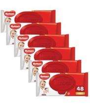 Kit 6 toalhas umedecida huggies supreme Care com 48. -