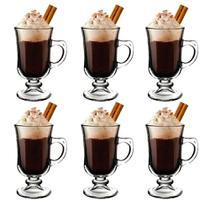 Kit 6 Xicaras Café Vidro Cappuccino Dolce Gusto Expresso - Pavillion