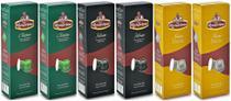 Kit 60 Cápsulas de Café Roccaporena Compatível Com Nespresso - 06 Caixas Sortidas -