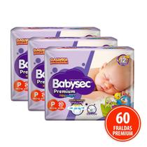 Kit 60 Fraldas Babysec Galinha Pintadinha Premium P - Softys