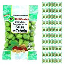 Kit 60 Pacotes Amendoim Crocante Sabor Cebola Salsa 50 gramas - Amendoim dumario