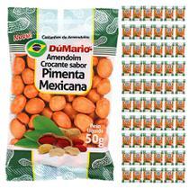Kit 60 Pacotes Amendoim Crocante Sabor Pimenta Mexicana 50 gramas - Amendoim dumario