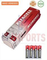 kit 60 Pilhas alcalina AA Normal Comum 2a Alfacell Cartela para Brinquedo calculadora controle remoto Relogio -