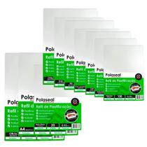 Kit 600 Plásticos Polaseal p/ Plastificação Tamanhos Variados 0,05mm - Marpax