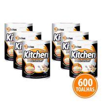 Kit 600 Toalhas Folha Tripla Kitchen Total Absorv -
