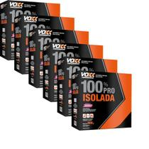 KIT: 6unid.de Whey 100% Pro Isolada Voxx Suplemenos Sabor Morango - 900gr - Cimed -