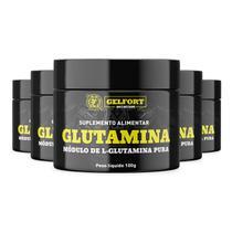 Kit 6x Glutamina Pura Gelfort 100g - Gelfort Nutrition