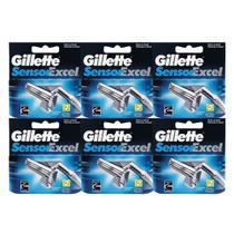 Kit 6x2 Gillette Sensor Excel (12 Cargas) -