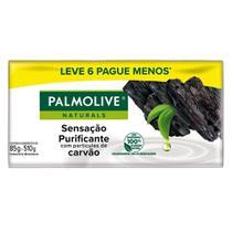 Kit 6x85g Sabonete Palmolive Naturals Sensação Purificante -