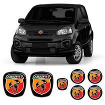 Kit 7 Adesivos Emblemas Abarth Fiat Novo Uno - Sportinox