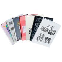Kit 7 Álbuns Criativa Folha Preta 160 Fotos - Ical