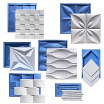 Kit 7 Formas 3D Gesso Plástico & Eva - Xmoldes Formas 3D