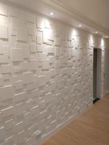 Kit 7 Placas 3D Para Parede Quadratto E Cola De Pu 400G - Lu Jpdecorações