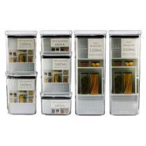 Kit 7 Potes Herméticos para Alimentos Mantimentos Empilháveis Acrílico - Paramount