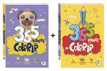 Kit 730 Desenhos Para Colorir Livro Infantil Capa Roxa Mais Livro Capa Amarela - Editora Brasileitura