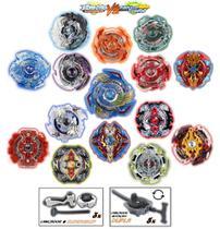 Kit 8 Beyblade Burst + 8 Lançador + 3 Grip Tornado Extreme Gyro - Td / Lianfa Toys