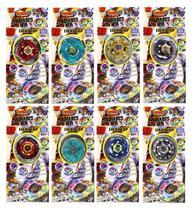 Kit 8 Beyblades Metal Tornado 8 Lançadores Speed Light Top -