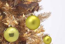 Kit 8 Bolas de Natal Enfeite Árvore Tubo 8 Bolas Refinadas Grandes - Delverano