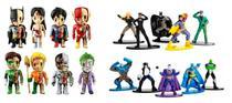 Kit 8 Bonecos Liga da Justiça XxRay+ 10 Bonecos Nano Metalfigs Dc Comics - Dtc